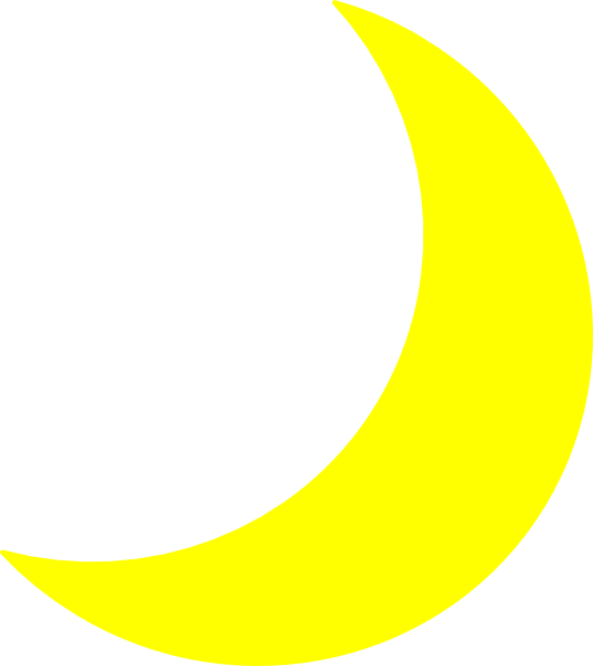 Yellow Moon Clip Art at Clker.com vector clip art online, royalty ...