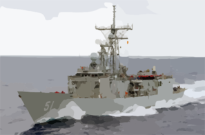 Uss Gary (ffg 51) Underway. Clip Art