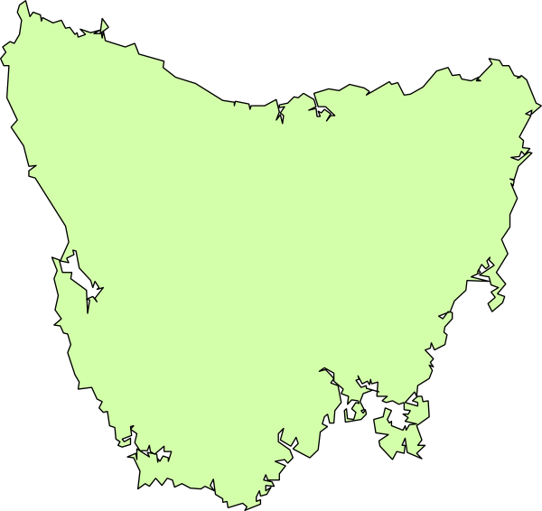 clipart map of tasmania - photo #6
