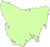 Blank Map Of Tassie Clip Art