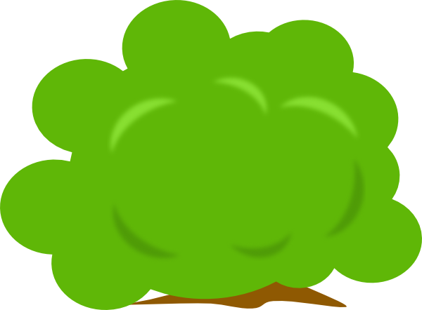 Bush Clip Art at Clker.com - vector clip art online, royalty free ...