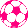 Hot Pink Soccer Ball Clip Art