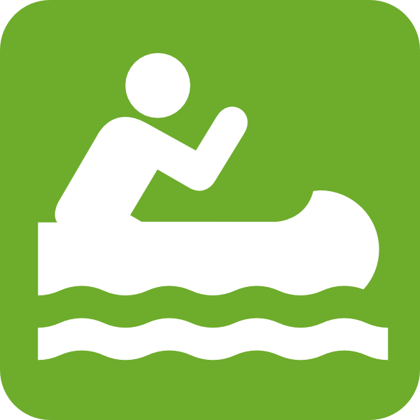 Green Canoe Icon Clip Art At Clker