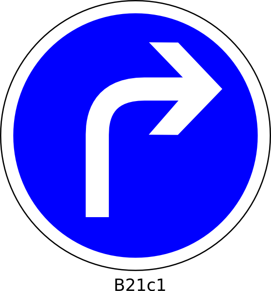 Right Turn Clip Art at Clker.com  vector clip art online, royalty