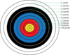 Archery Target With Points Clip Art