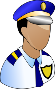 Police Prominant Badge Clip Art