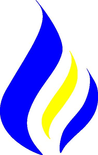 Blue Flame Logo Clip Art at Clker.com - vector clip art ...  Blue Flames Clip Art