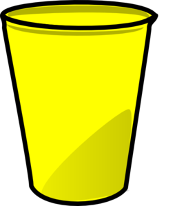 yellow cup clip art at clker com vector clip art online royalty rh clker com cup clipart black and white cup clipart outline
