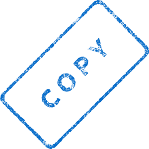 Faded Copy Stamp Clip Art