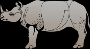 Rhinoceros Clip Art at Clker.com - vector clip art online, royalty ...