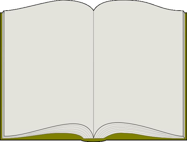 Open book clip art template