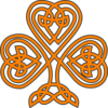 Shamrock Knotwork Orange Clip Art
