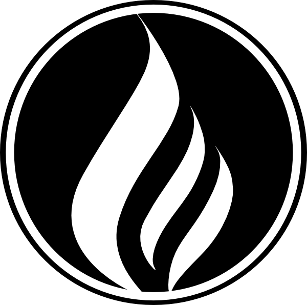 Black Flame Icon Clip Art at Clker.com - vector clip art ...