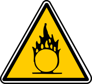 Warning - Flammable 2 Clip Art