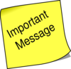 Note Important Message Clip Art