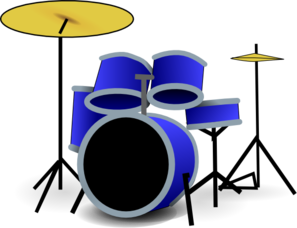 Blue Drum Set Clip Art