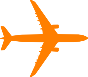 Orange Plane Clip Art at Clker.com - vector clip art online, royalty ...