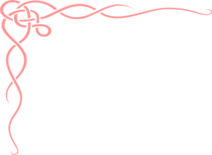 Large Corner Scroll In Pink Clip Art