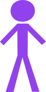 Stick Figure Purple Clip Art