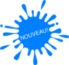 Nouveau Blue Splash Ink Clip Art