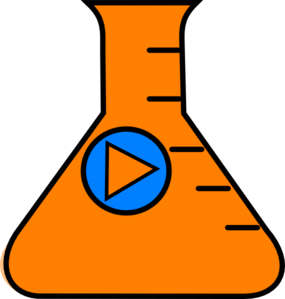 Flask Erlenmeyer Start Orange Clip Art
