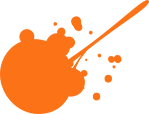 Orange Paint Splatter Clip Art
