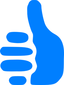 Blue Thumbs Up Clip Art