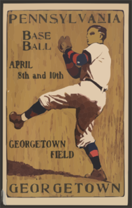 Pennsylvania [vs.] Georgetown, Base Ball, April 8th And 10th--georgetown Field  / John E. Sheridan  05. Clip Art
