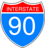 Interstate 90 Sign Clip Art