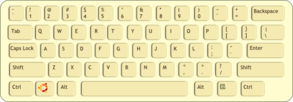 Qwerty Keyboard (path) Clip Art