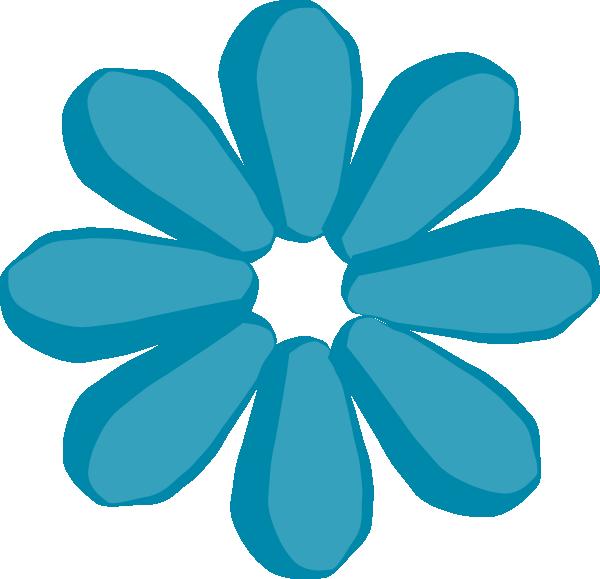 Teal Flower clip artFlower Clipart