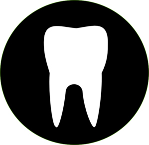 tooth outline clipart BLACK TOOTH outline clip art