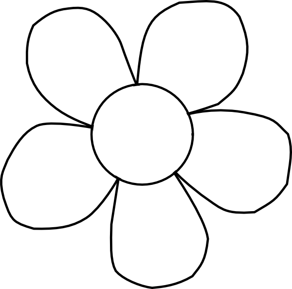 Black And White Daisy Clip Art At Clker Com Vector Clip