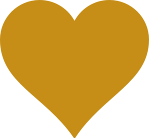 Solid Gold Heart Clip Art
