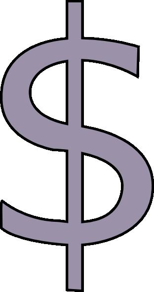 grey dollar sign clip art at clker com vector clip art online rh clker com clip art dollar symbol clip art dollar bill image
