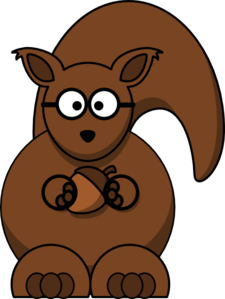 Squirrel With Glasses Clip Art