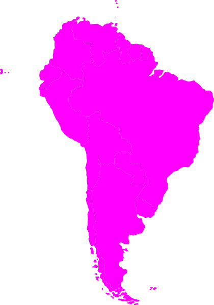 Montessori South America Continent Map Clip Art at Clker.com ...