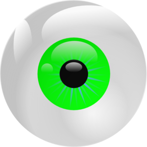 Eyeball Green Clip Art