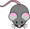 Pink And Grey Mouse Clip Art