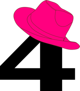 #4 Pink Cowgirl Hat Clip Art