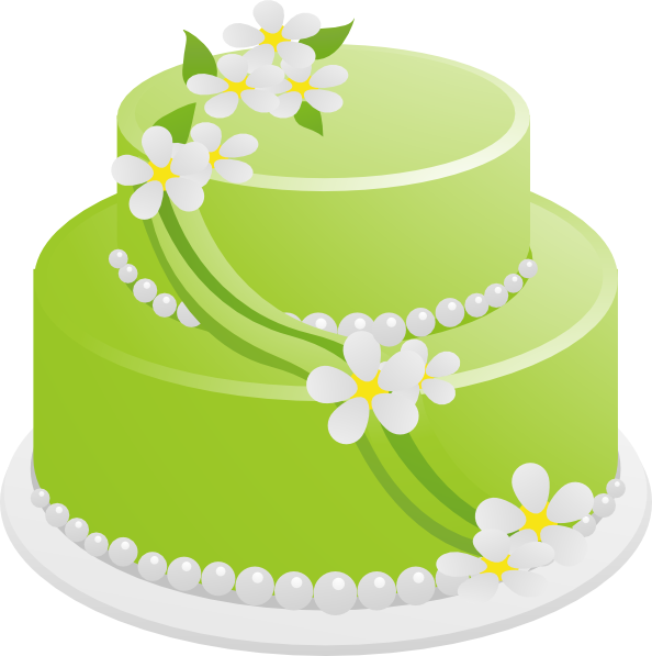Green Birthday Cake Clip Art at Clker.com - vector clip ...