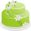 Green Birthday Cake Clip Art