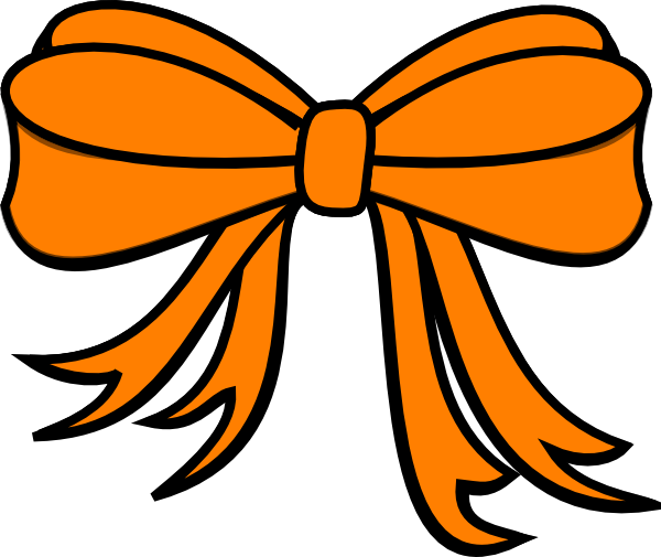 Gift Bow Clip Art Gift Bow Orange Clip A...