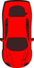 Red Car - Top View - 270 Clip Art