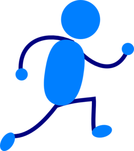 Blue Man Running Clip Art