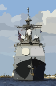 Guided Missile Cruiser Uss Philippine Sea (cg 58) Departs From Its Homeport Clip Art