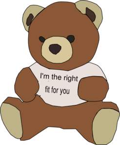 Bear Hire Me Clip Art