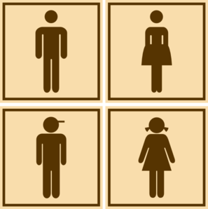 Washroom Icons Clip Art