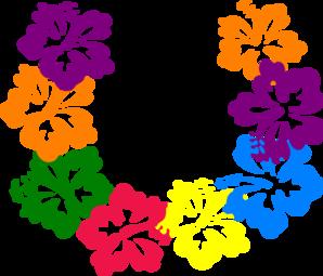 Hibiscus Lei clip art - vector clip art online, royalty free ...