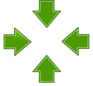 Green Inward Arrows Clip Art